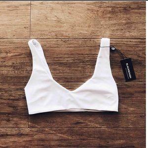 blackbough white bikini top